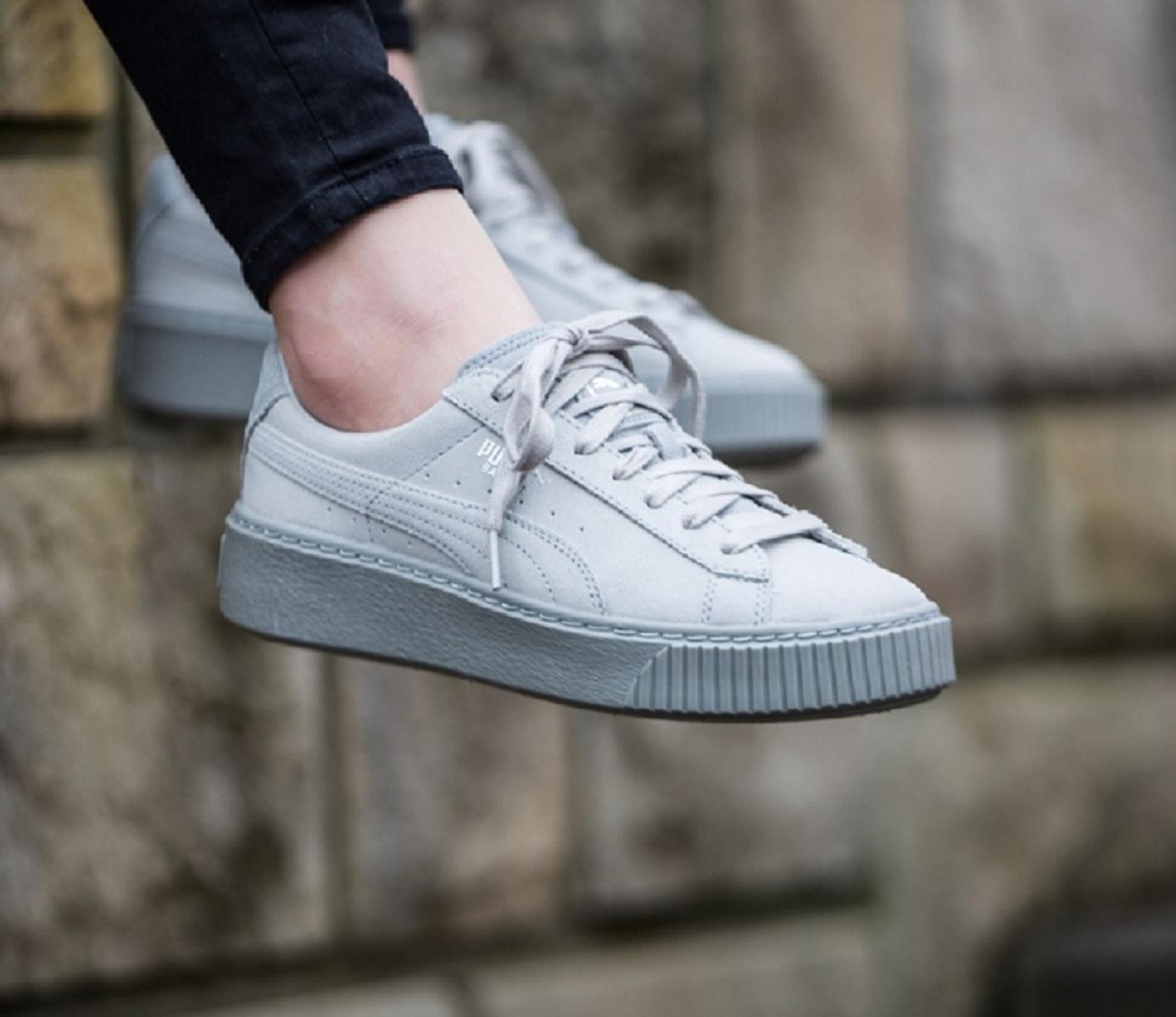 puma scarpe basket platform donna