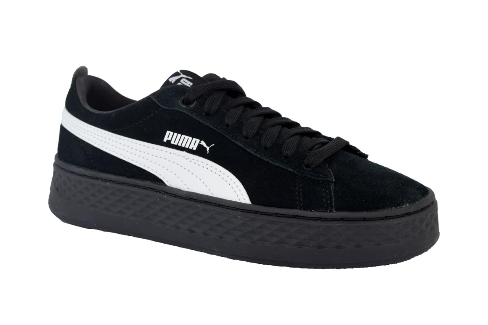 NUOVO Puma Smash Platform SD 366488 02 Donna Scarpe da Ginnastica Sneakers Sport Nero