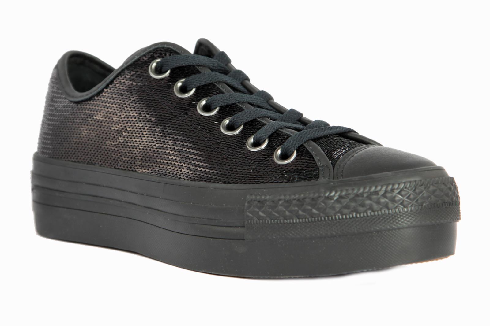 Sneakers Paillettes DONNA  CONVERSE  NERO