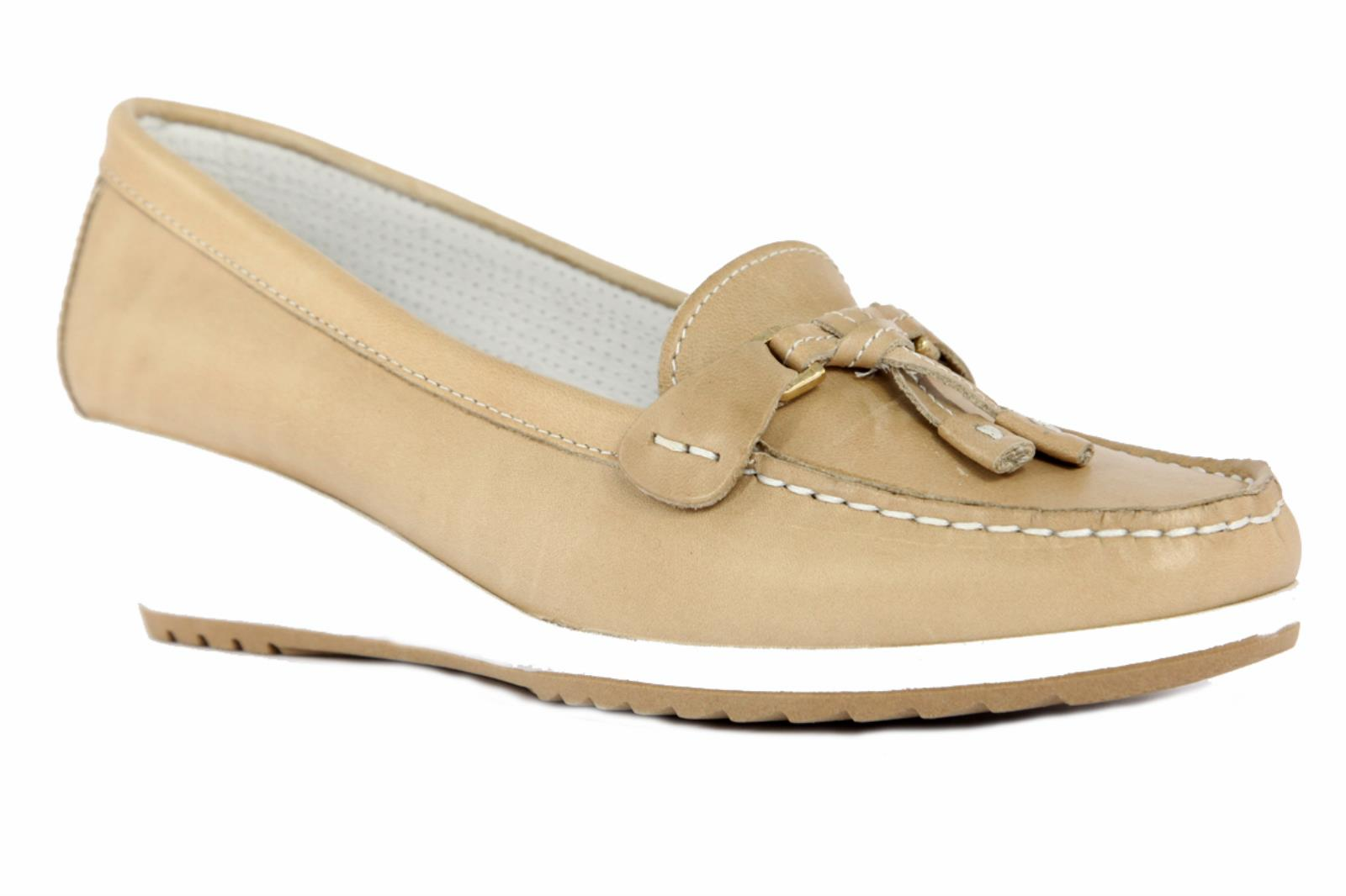 MOCASSINI-ENVAL-SOFT-PER-DONNA-IN-PELLE-DI-COLORE-BEIGE-7934200