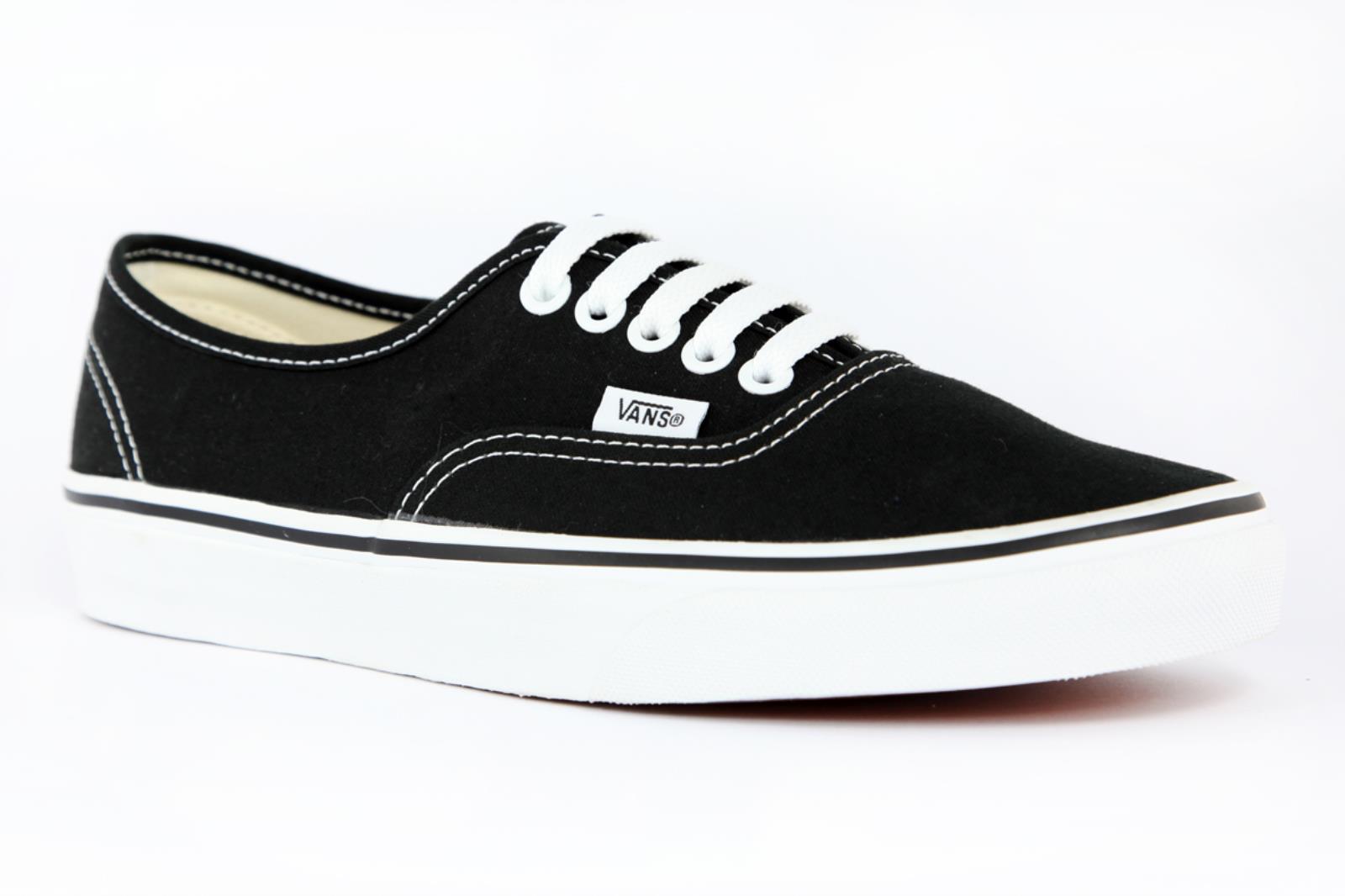 Vans Authentic Tela Nera Unisex Skate Sneakers