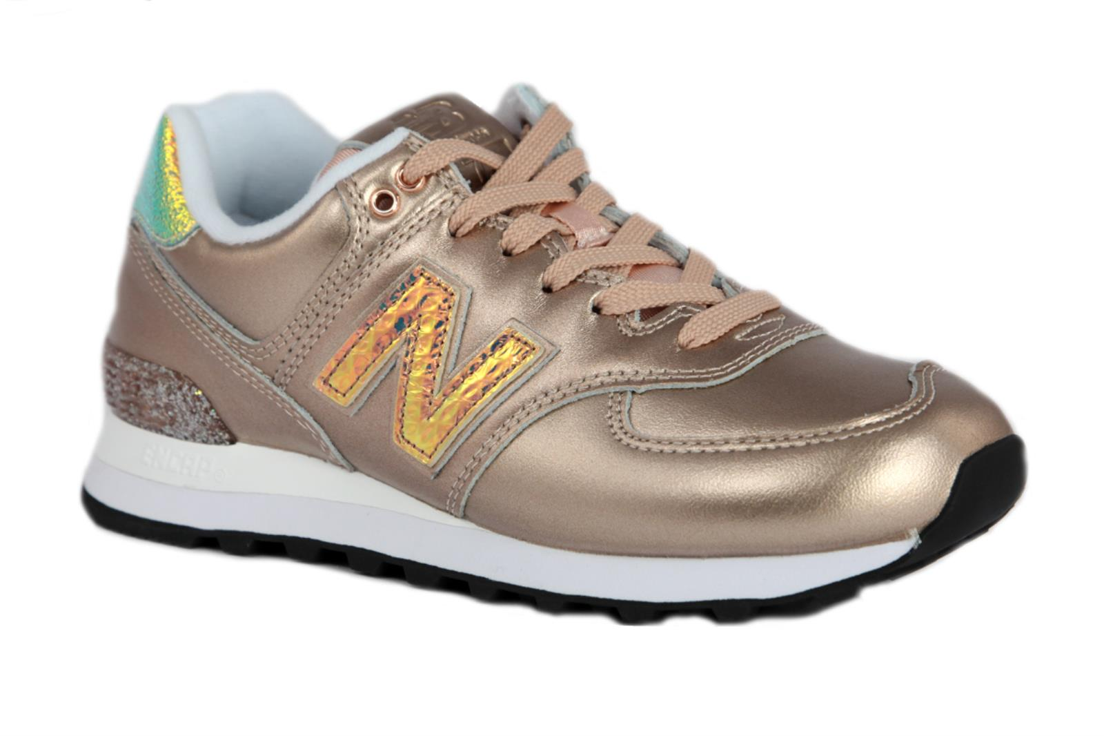 SNEAKERS NEW BALANCE LIFESTYLE WL574NRG DA DONNA IN PELLE SINTETICA DI COLORE BR
