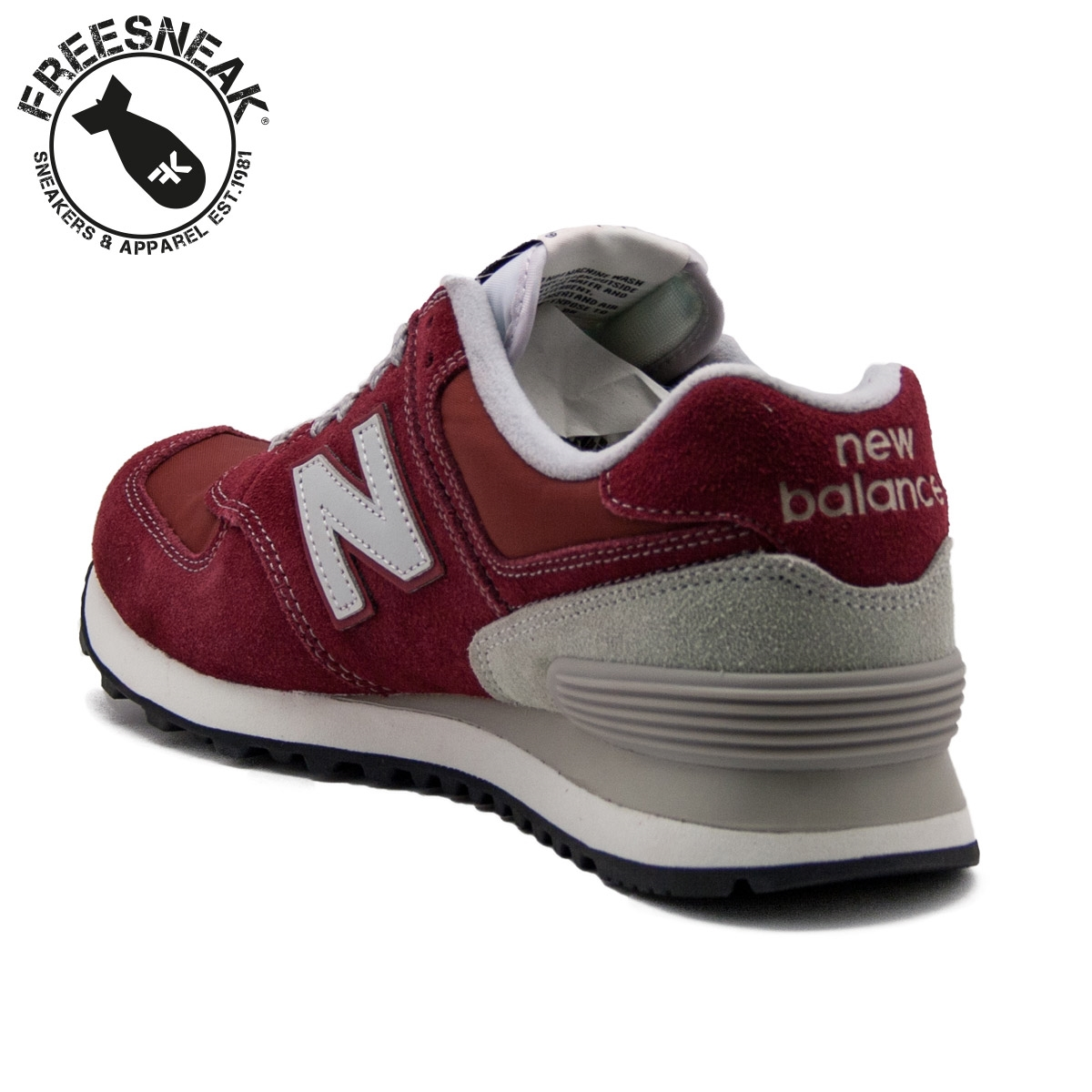 new balance 574 bordeaux 38