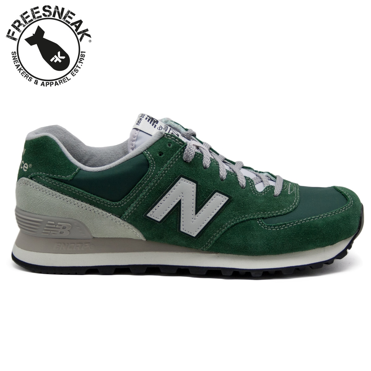new balance 574 gold green