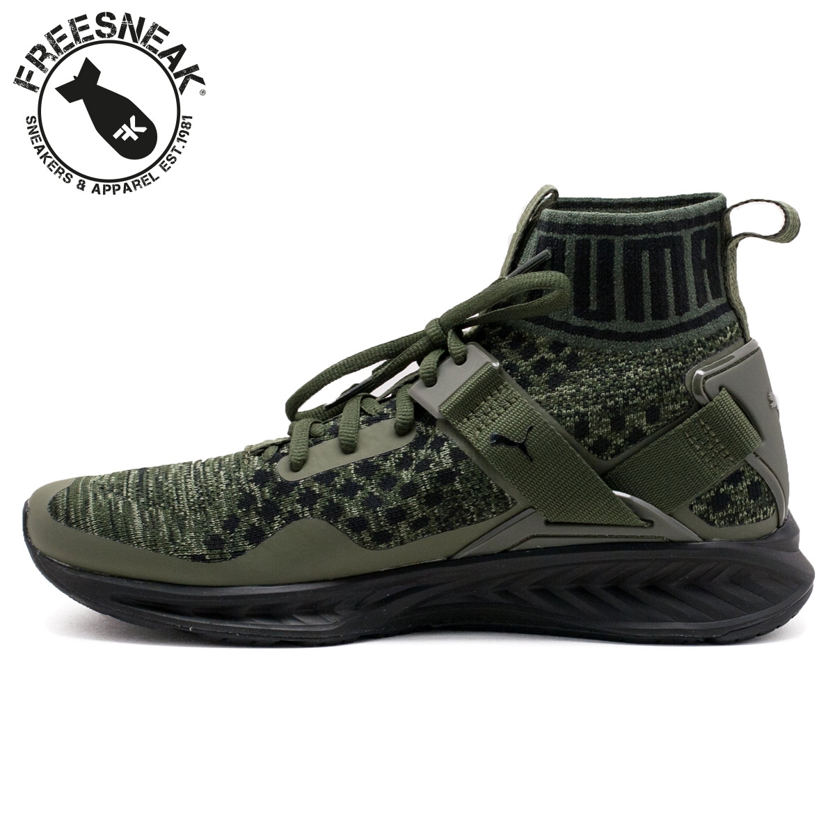 various colors ef0c3 eaafa Puma Ignite Evoknit Olive Green wearpointwindfarm.co.uk