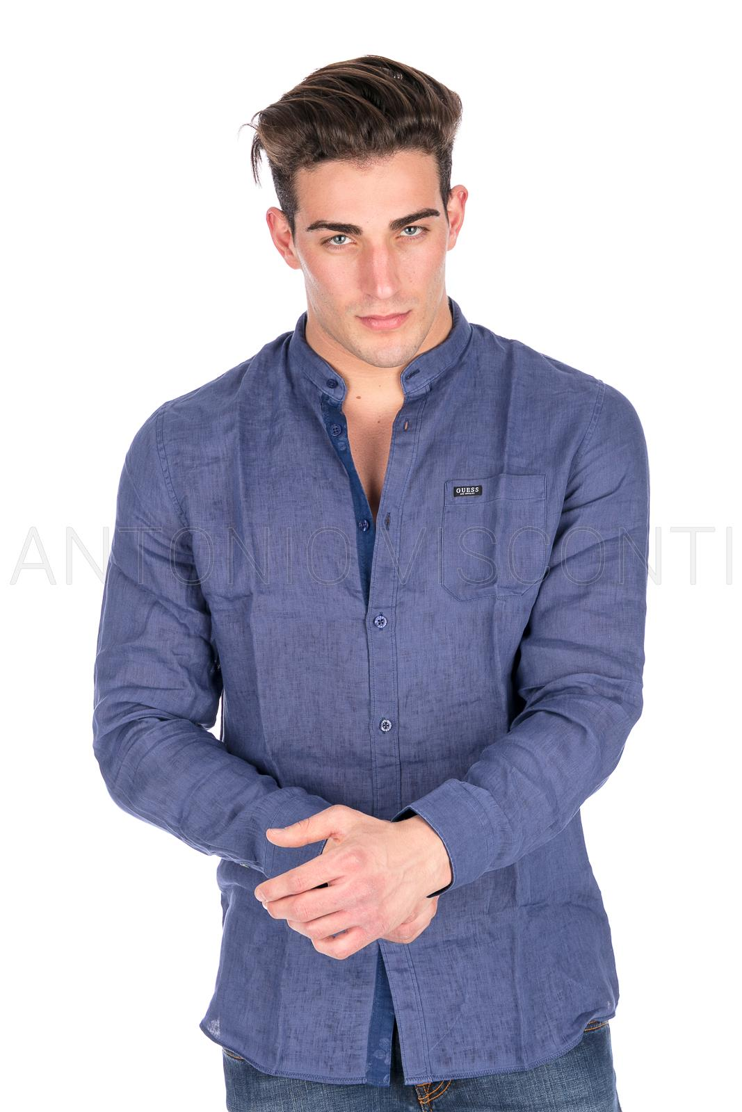 new styles f30d5 48599 Guess Jeans Uomo Camicia