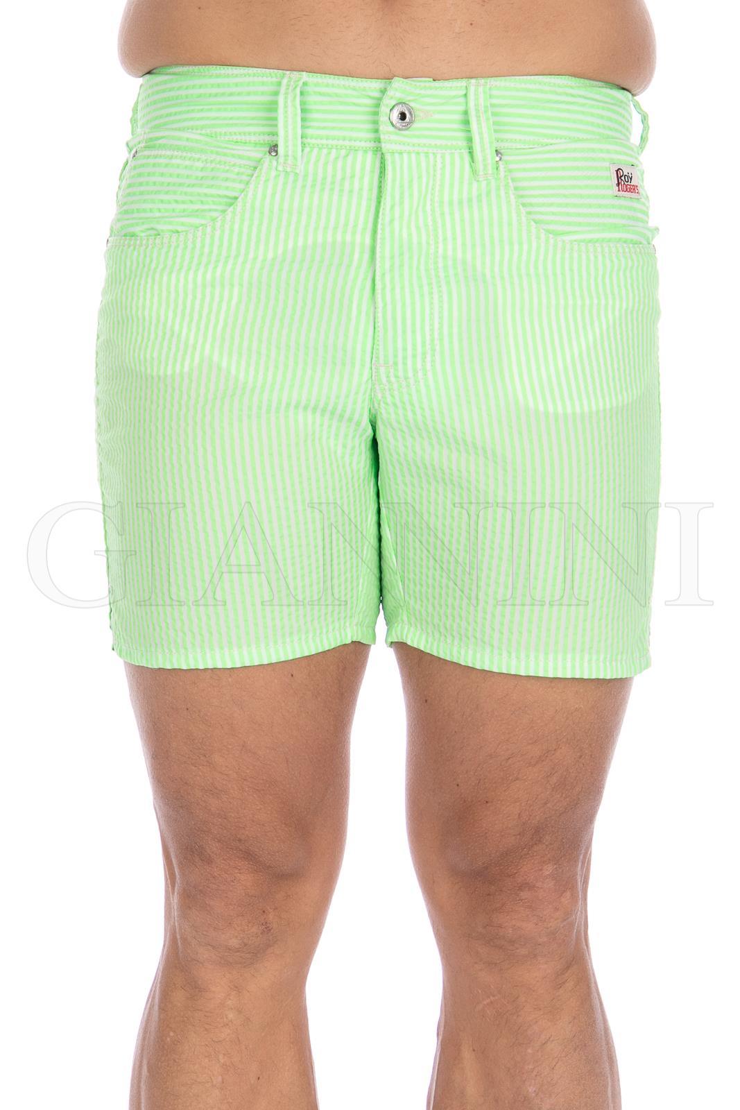 Verde Militare BEACH Costume Boxer Roy Rogers 2018 Tasche Impunture Contrasto