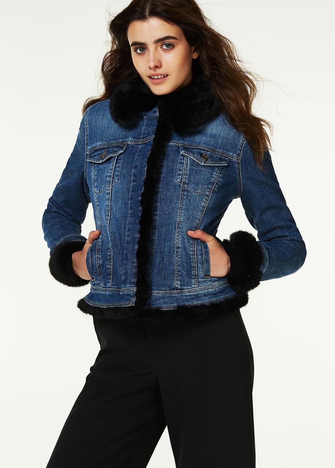 Giubbino jeans con pelliccia liu jo