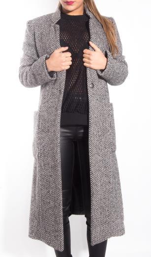 cappotto spigato donna