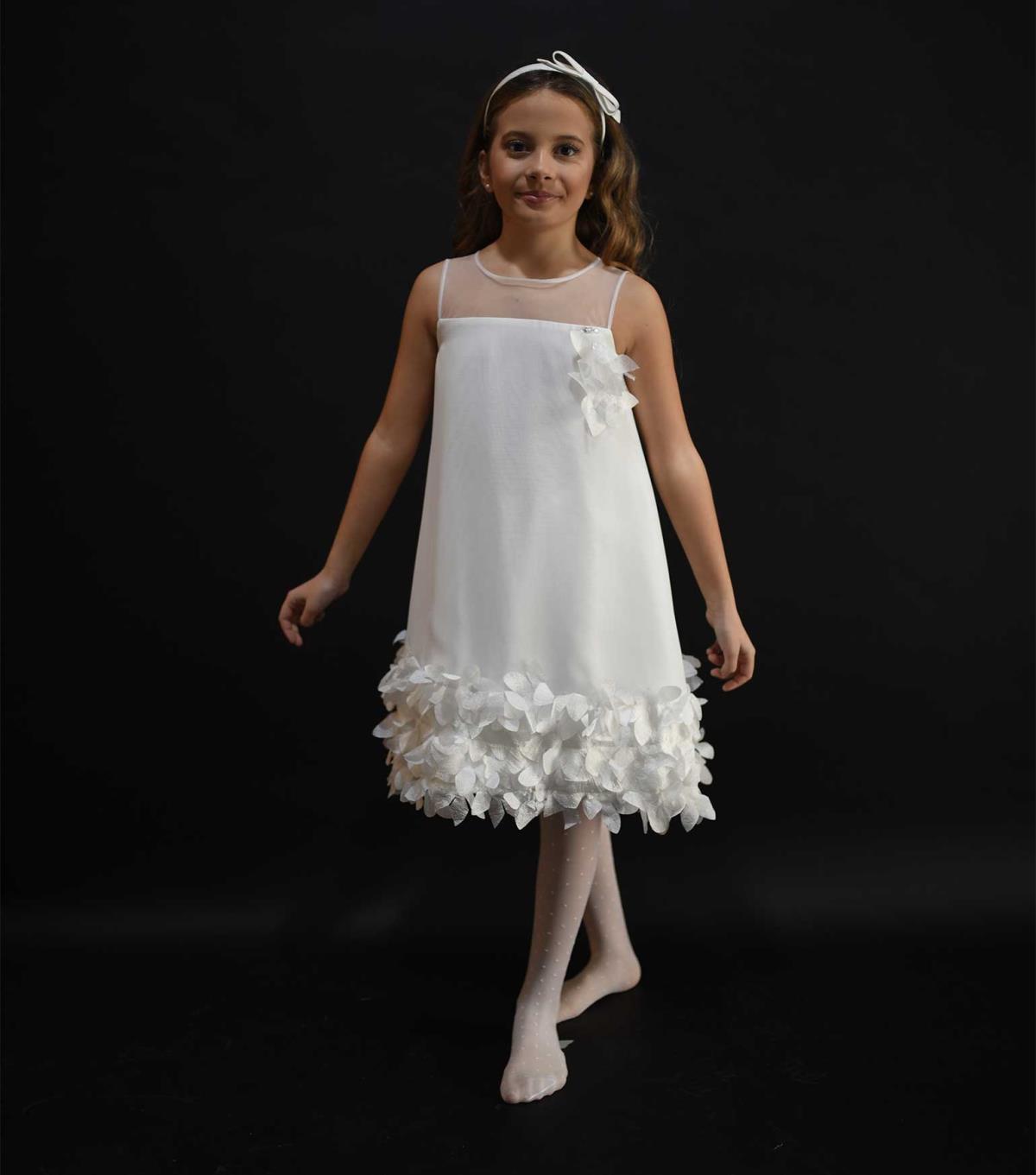 the latest e9ca6 b4905 Le Bellissime Di Loredana Bambina Abito Bianco Cerimonia ...