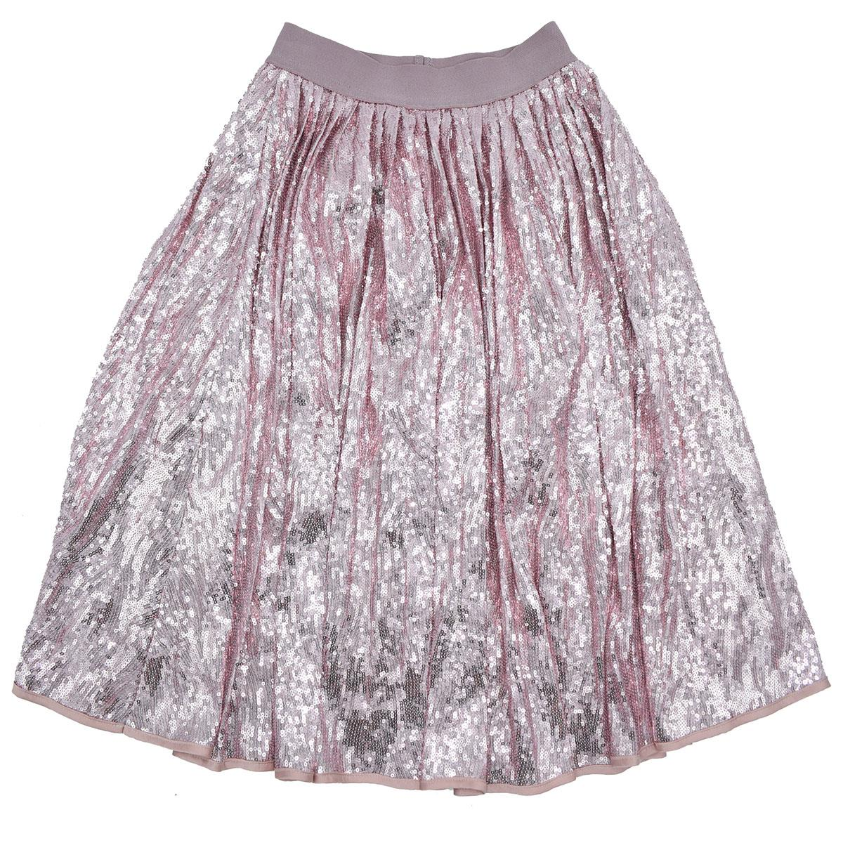 enorme sconto 5e0ed 2bf83 John Richmond Bambina Gonna Lunga Paillettes Rosa
