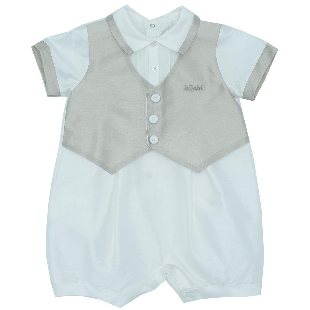 ec4249d565 Le Bebè Neonato Pagliacceto Gilet Ecrù-Angelsbimbi