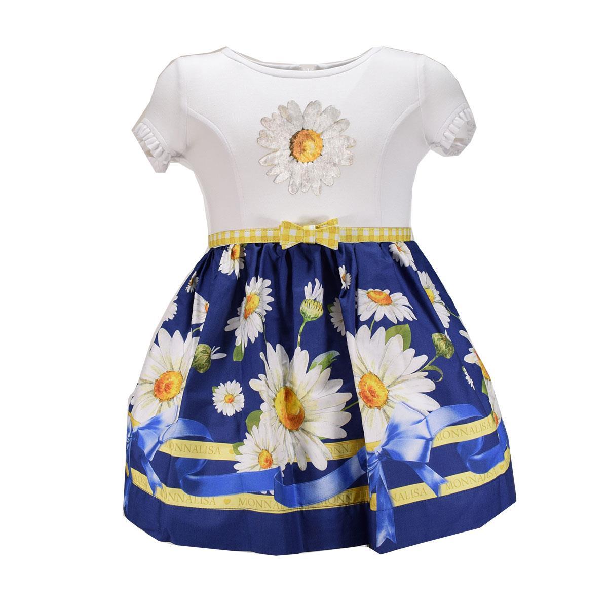 cerca il più recente fashion style prezzo ridotto Monnalisa Bimba Abito Margherite