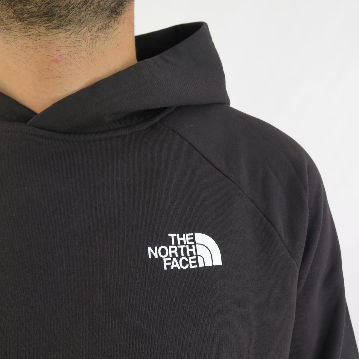 The North Face Felpa Uomo Raglan Red Box Black  07f73e74b5c9