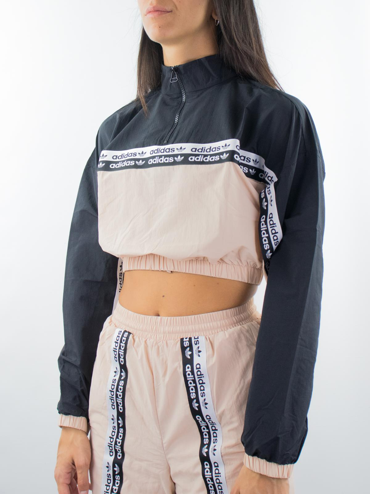 crop top felpa adidas
