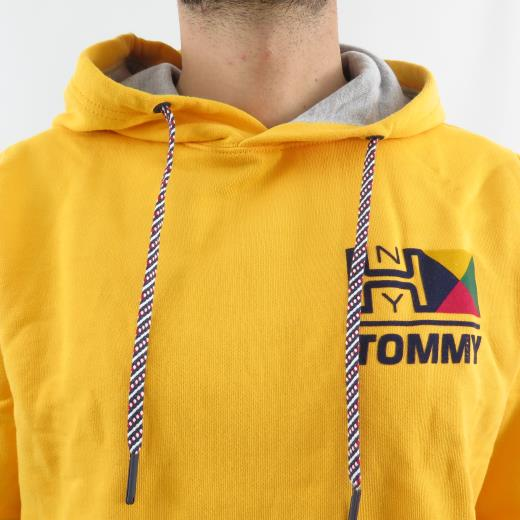 TOMMY JEANS HOOD RETRO LOGO HD YELLOW