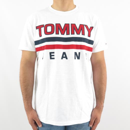 TOMMY JEANS STRIPE T-SHIRT WHITE
