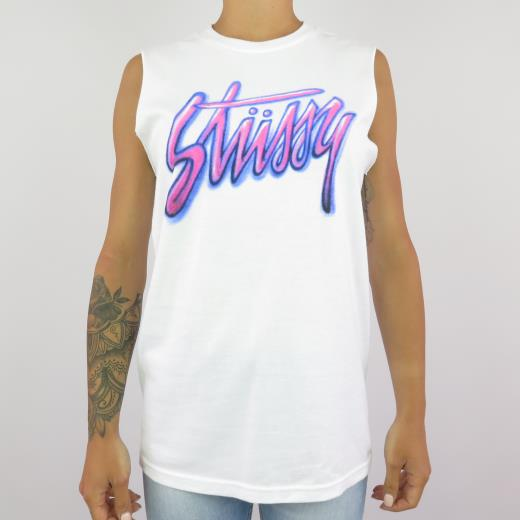 95f5e522 Stussy Canotta Donna Shadow Script Raw Muscle Tee | Black Sheep