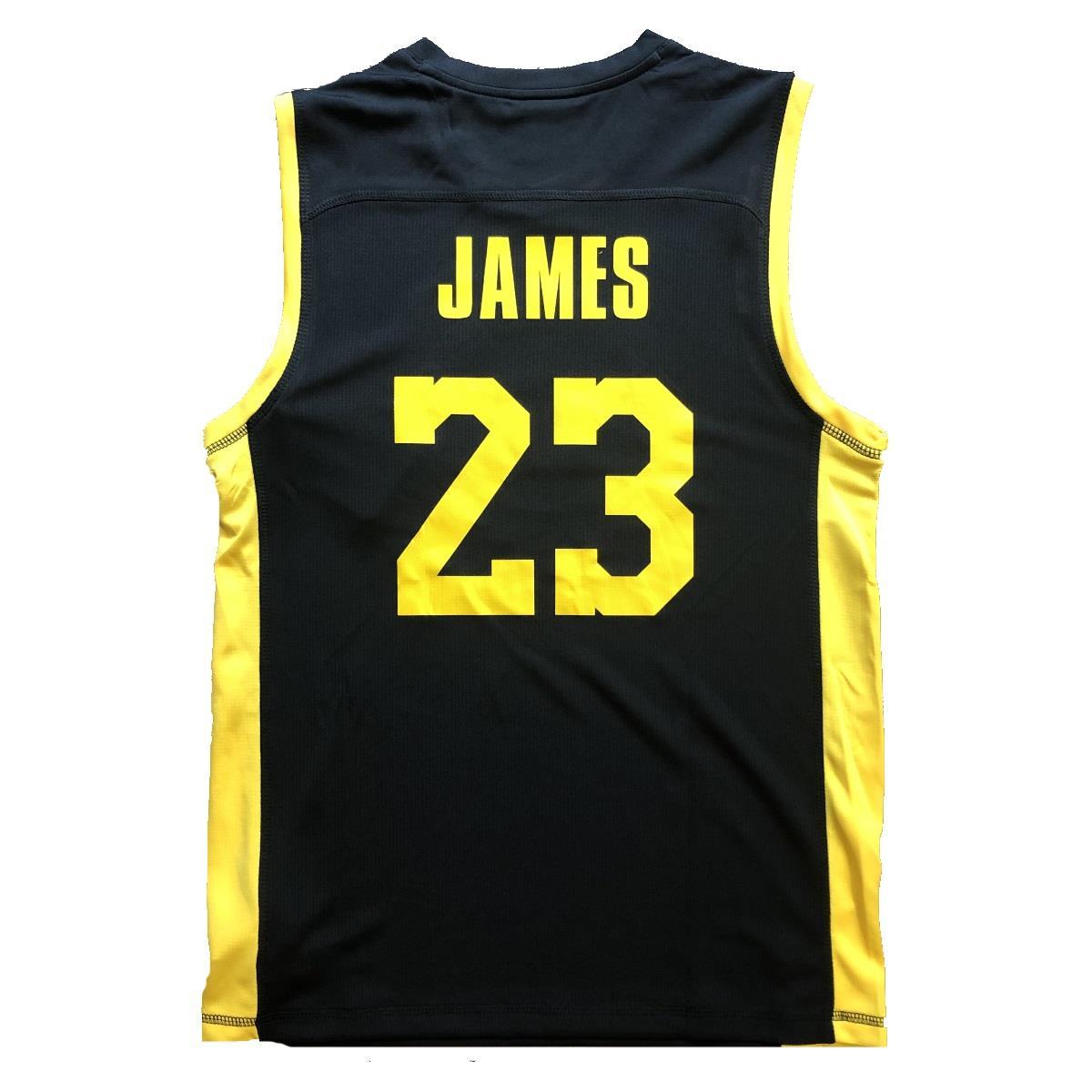 grandi affari 2017 sito ufficiale risparmia fino all'80% LEBRON JAMES LOS ANGELES LAKERS REPLICA JERSEY CANOTTA NBA BAMBINO