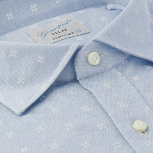 GIAMPAOLO RELAX PATTERNED SHIRT