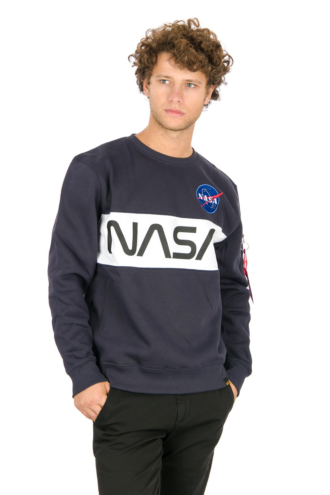 fbb2a67723 ALPHA INDUSTRIES NASA INLAY SWEATER