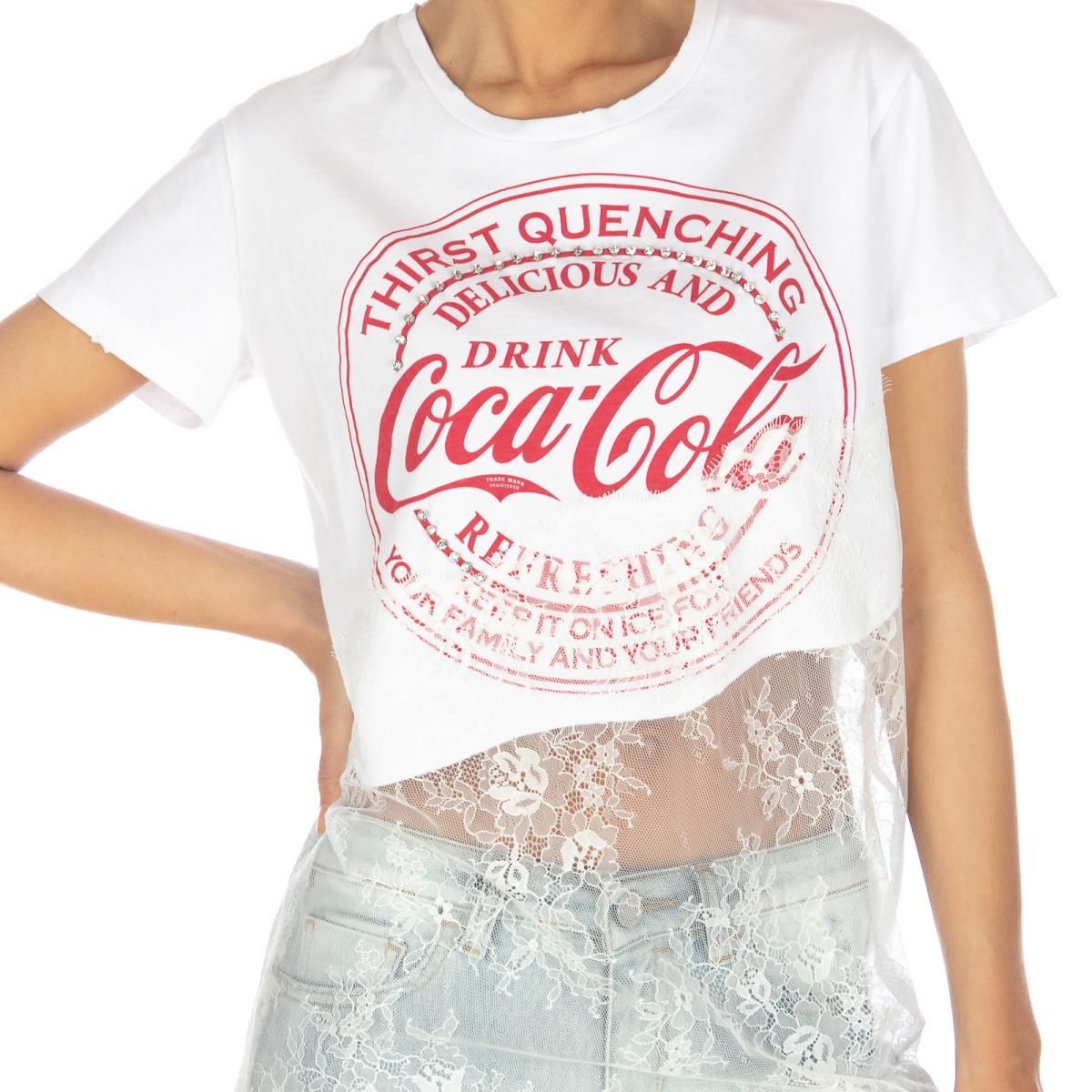 White Basilico 1 T-shirt Pinko Outlet Fashion Style 1WkT6
