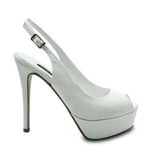 Scarpe Sposa Bianco Seta.Albano Scarpe Da Sposa In Bianco Seta 2156 Allocca Store