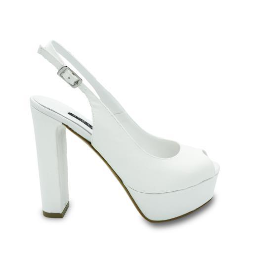 Scarpe Da Sposa Albano.Albano Scarpe Da Sposa In Bianco Seta 2156 Allocca Store