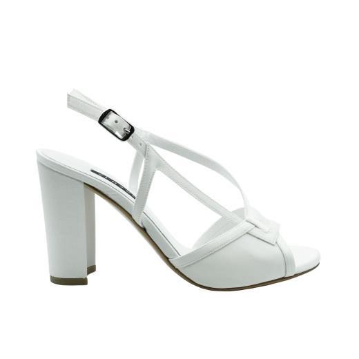 Scarpe Sposa Bianco Seta.Albano Sposa Scarpe In Bianco Seta 2039 Allocca Store
