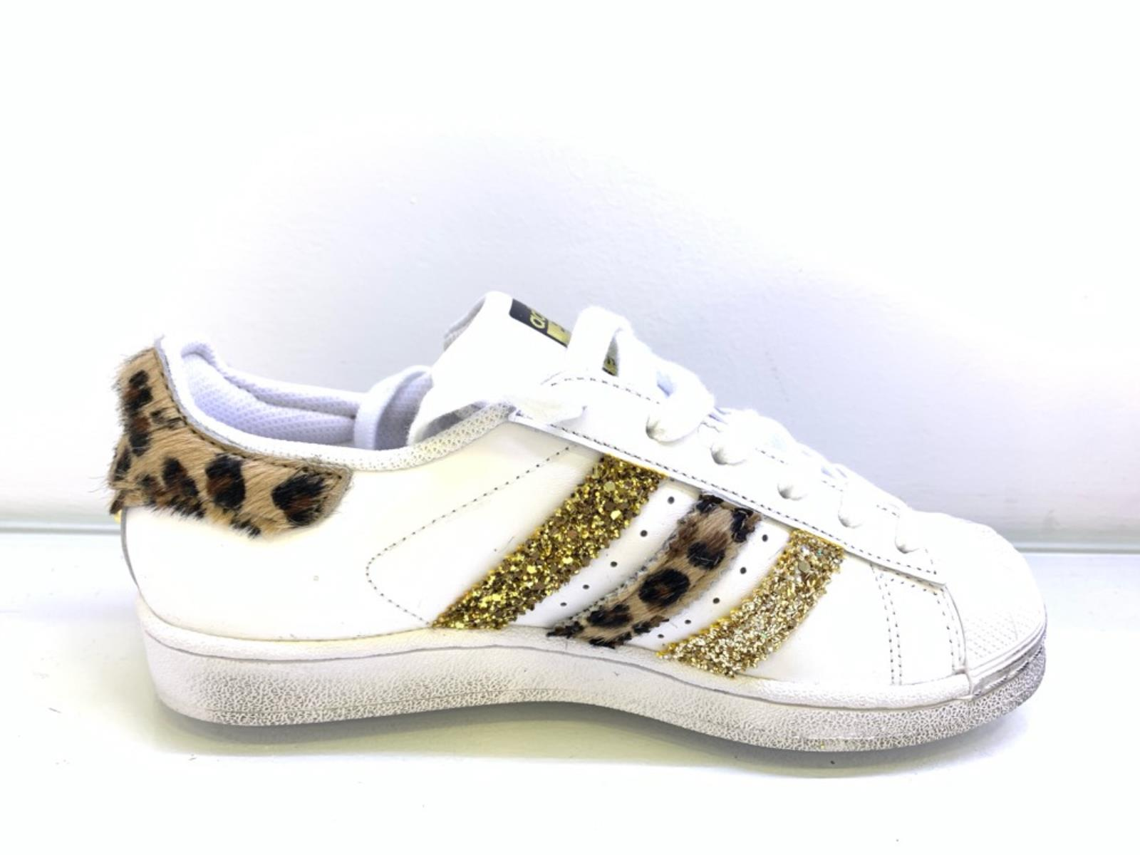 adidas superstar oro glitter