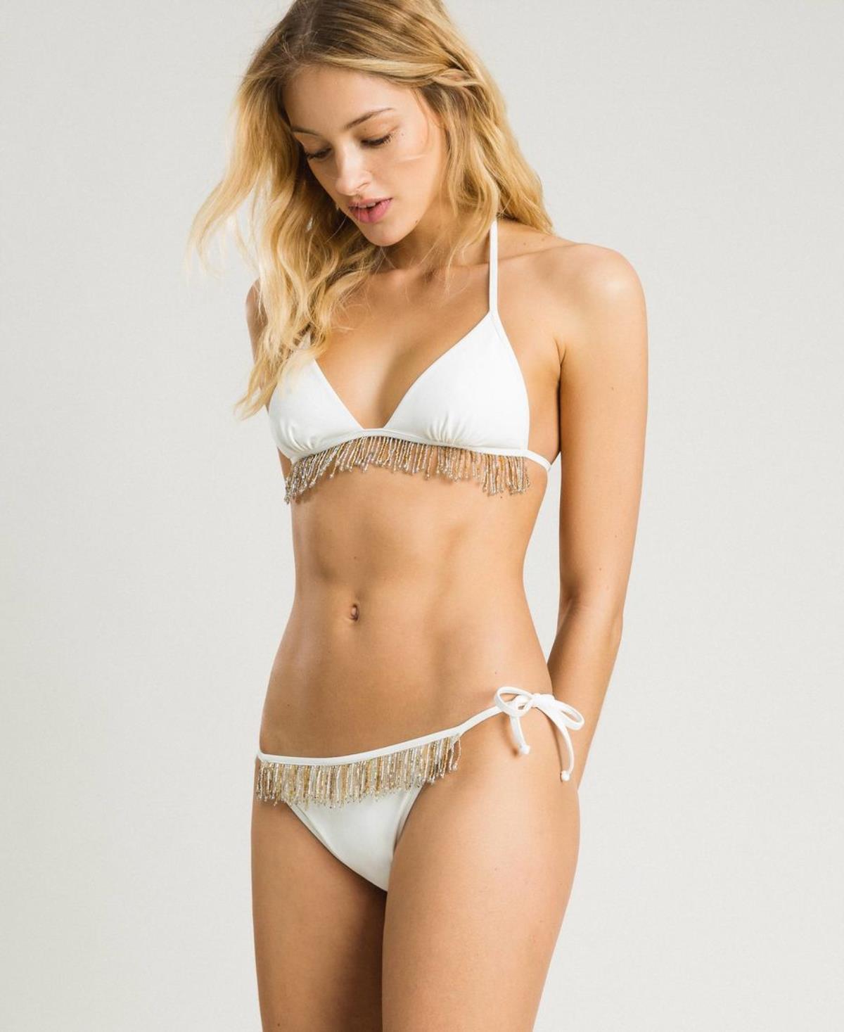 finest selection 501ed 0664c bikini,twin-set,avorio,lamaisonbleue.it,triangolo,top,imbottitura,staccabile,frangetta,corallini,pendenti,