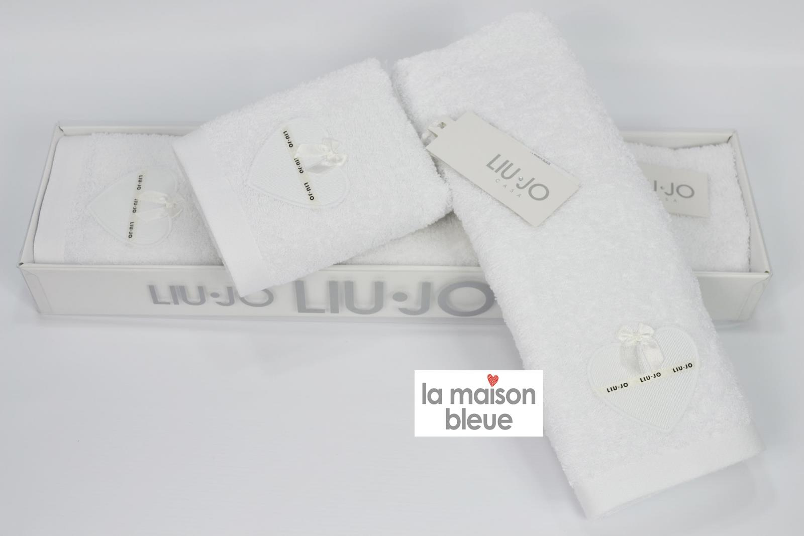 low priced cada1 c8838 Set asciugamani LIU-JO CASA in puro cotone