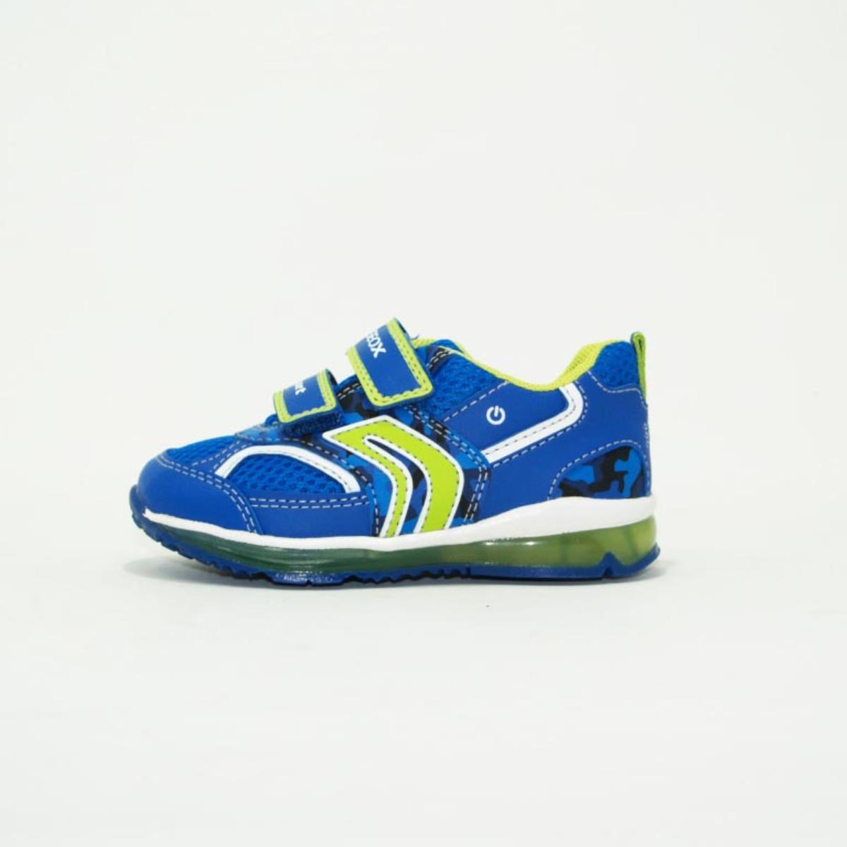 compra meglio ricco e magnifico più economico Geox scarpa bassa sneakers con velcro strappo luci bambino giallo royal  celeste B9284A