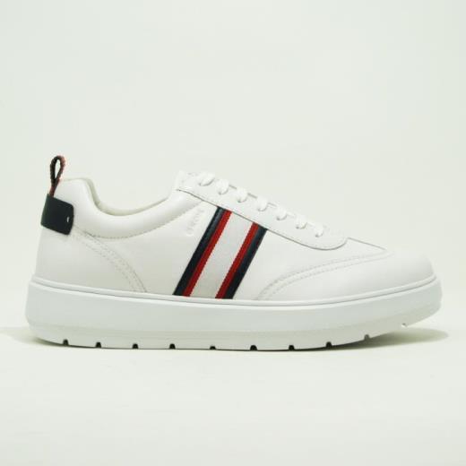 Geox sneakers bassa lacci uomo camoscio blu bianco U926XD