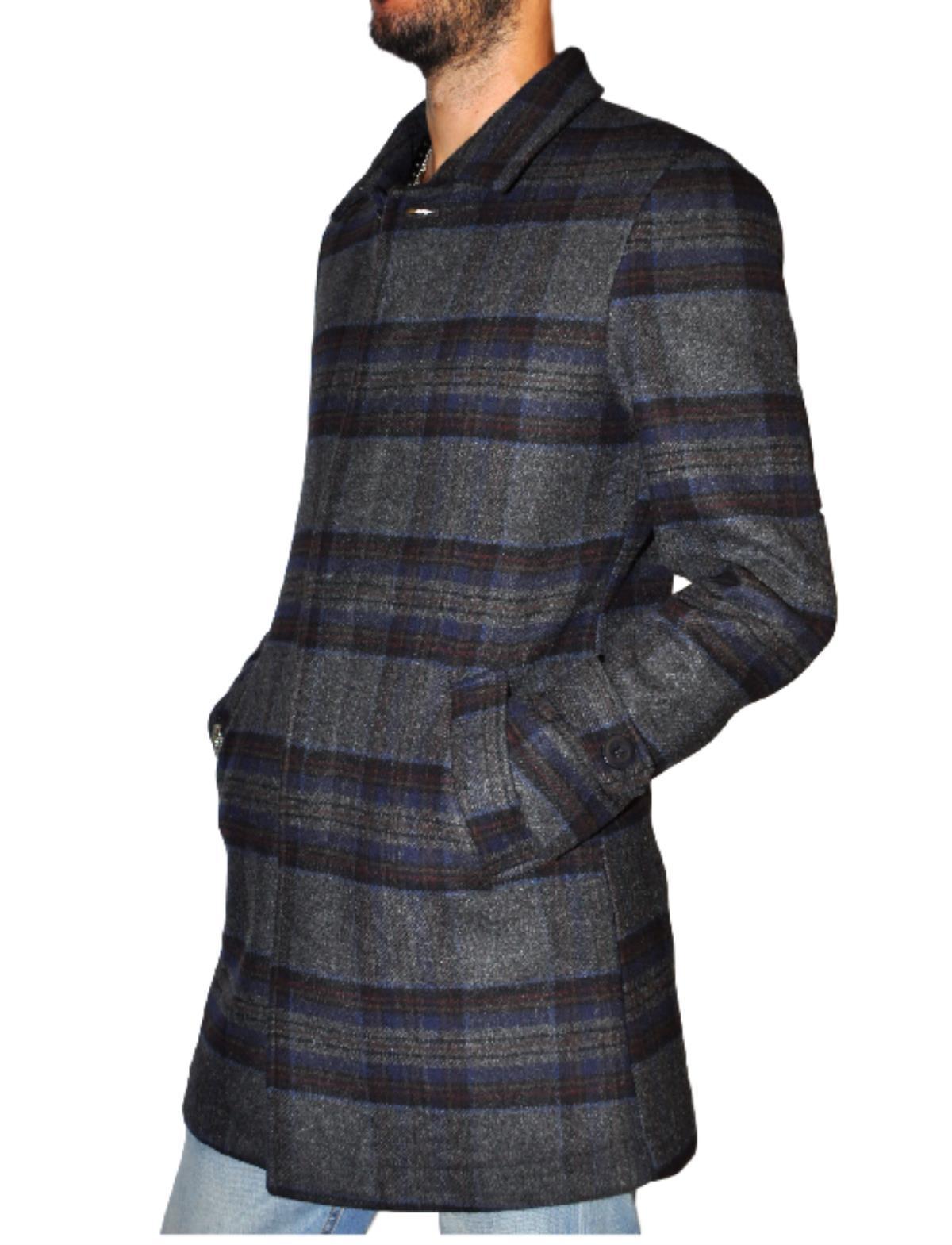 1d5ecefe71 Cappotto uomo Koon fantasia quadri vestibilità slim fit modello loden