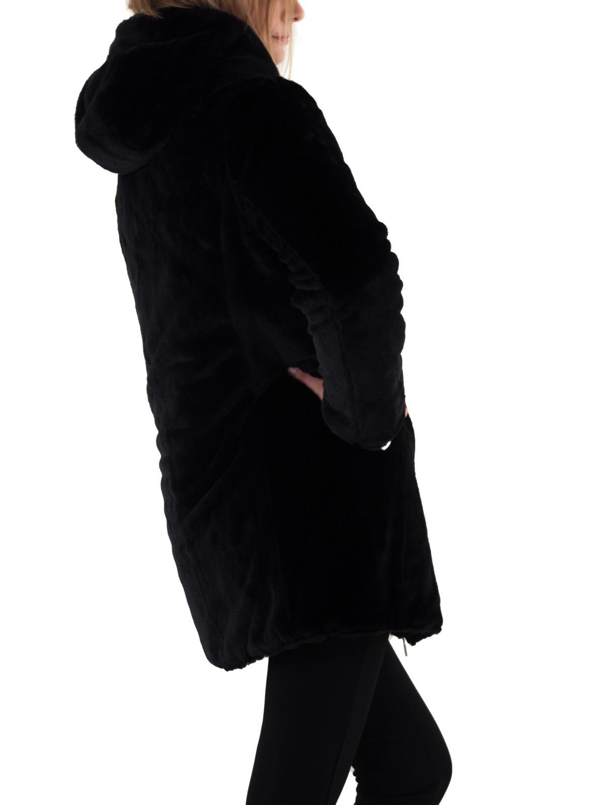 KOOLJAY Piumino con cappuccio reversibile pellicciotto MF368 47e9aabcda8