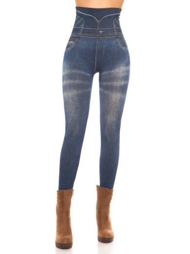 KOUCLA Leggings effetto jeans vita alta 0000ENLEGTV-20