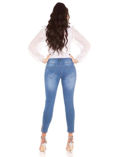 KOUCLA Jeans curvy girls capri destroyed 0000GT386