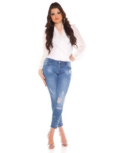 KOUCLA Jeans curvy girls capri destroyed 0000GT386