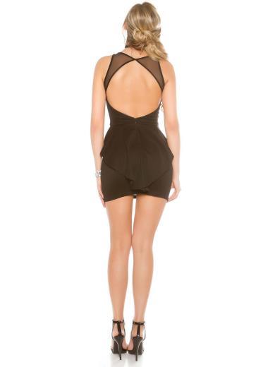 KOUCLA Sexy mini abito schiena scoperta 0000IN50214