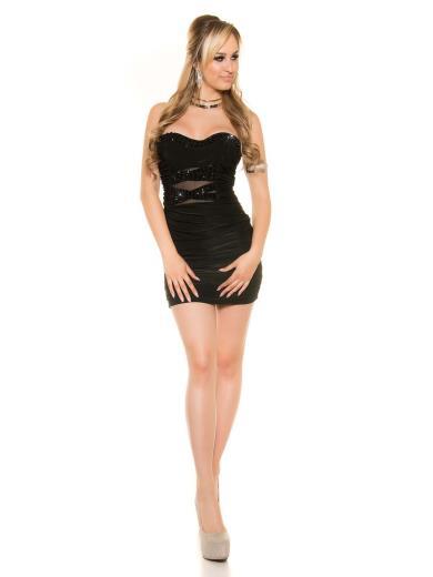 KOUCLA Sexy mini abito con strass 0000ISF8829
