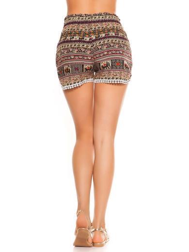 KOUCLA Shorts stampa etnica 0000L-49
