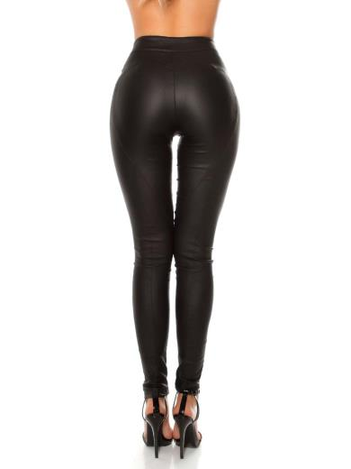 KOUCLA Pantaloni ecopelle con lacci 0000LE19272