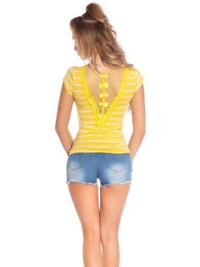 KOUCLA Sexy t-shirt con pizzi 0000X014-2