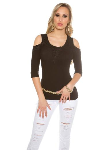 KOUCLA T-shirt spalle scoperte A00229