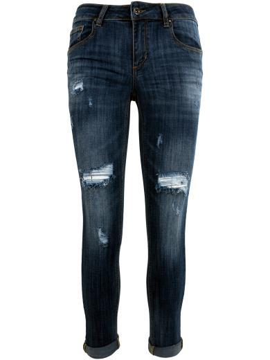 MISS BONBON Jeans destroyed skinny A00621