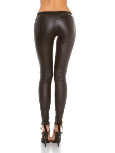 KOUCLA Pantaloni ecopelle A00837