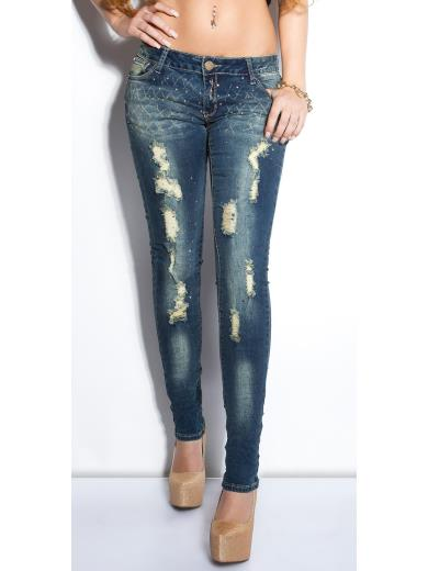KOUCLA Jeans skinny destroyed A00874