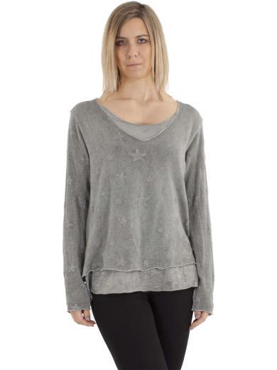 KESY T-shirt stampa stella A00912
