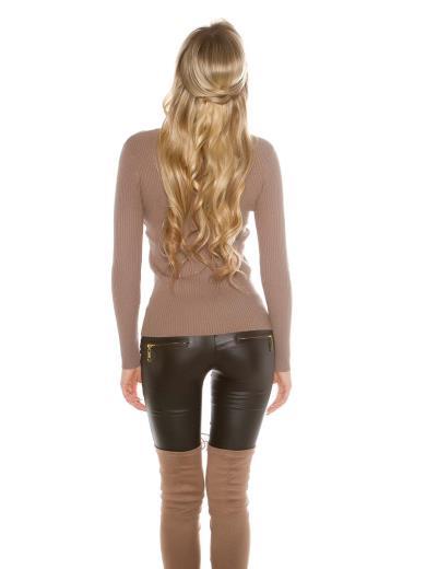 KOUCLA Sexy maglia con scollatura stringata A01044
